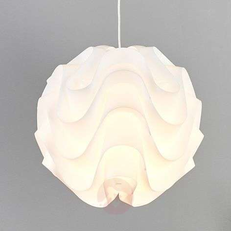 Valkoinen Tilly-muoviriippuvalaisin