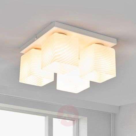 Valkoinen Vega-kattolamppu, 4 lamppua