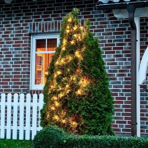 Valoketju Chrissline, kirkas, 100-lamppuinen