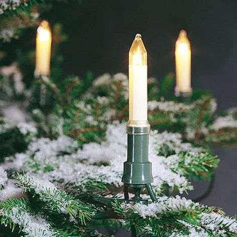 Valoketju, jossa kynttilät, ulkokäyttöön, 12 m