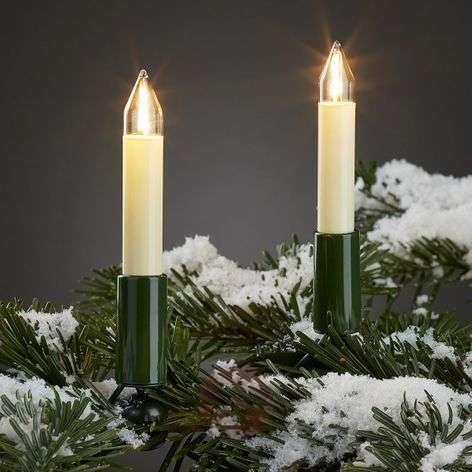 Valoketju ulos LED-filam.-kynttilöillä 30-lampp.