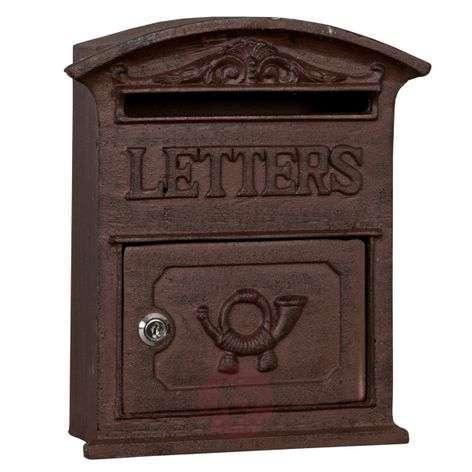 Valurautainen Antiko-postilaatikko