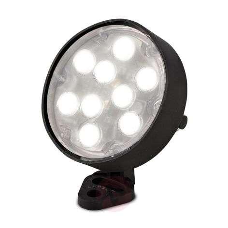 Vedenalainen LED-kohdevalo Aqua, läpimitta 10,4 cm