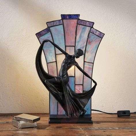 Viehättävä Tiffany-tyylinen Flamina-pöytävalaisin