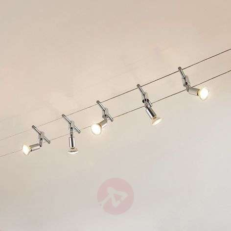 Viisilamppuinen Rope LED-kohdevalaisin, 5-lampp.