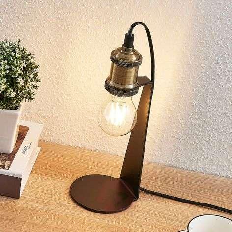 Vintage-pöytälamppu Aurella, vanhamessinki