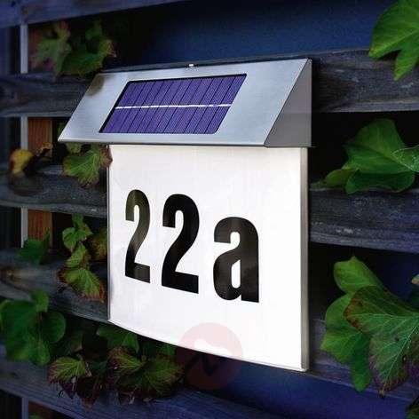 Vision-talonumerovalaisin aurinkokennolla