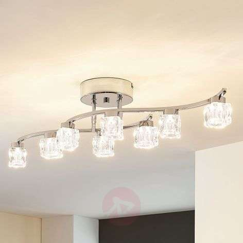 Yaro - himm., kahdeksanlampp. LED-kattolamppu