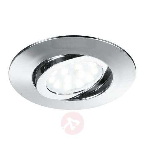 Zenit - käännettävä LED-kattouppospotti, kromi