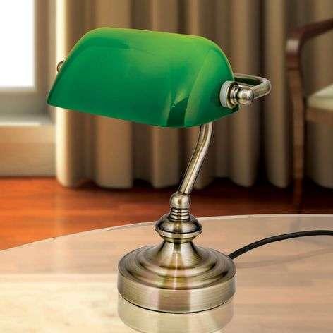 Zora-pankkiirivalaisin vihreällä lasivarjostimella-7255360-31