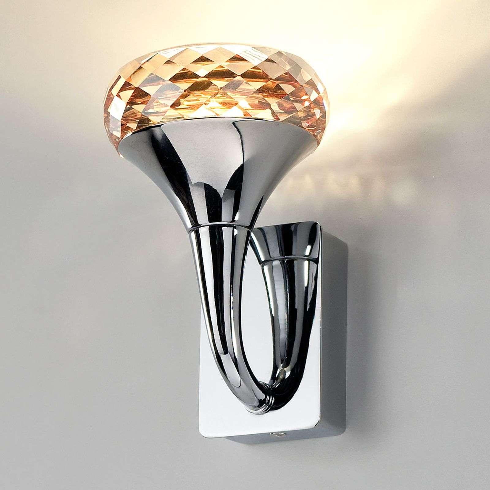 Kristallinen Fairy-design-LED-valaisin meripihka